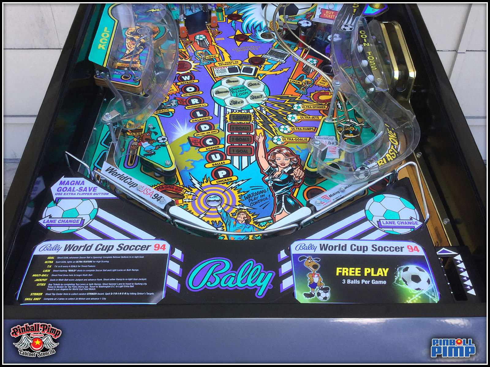 1994 Bally WCS 94 Pinball machinePinball Pimp